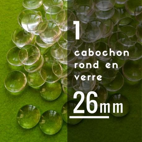 Cabochon rond - 26 x 26 mm - A l'unité