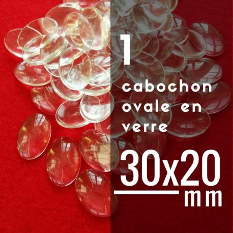 Cabochon ovale - 30 x 20 mm - A l'unité