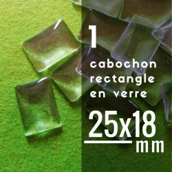 Cabochon rectangle - 25 x 18 mm - A l'unité