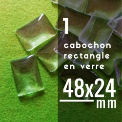 Cabochon rectangle - 48 x 24 mm - A l'unité
