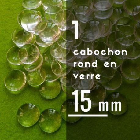Cabochon rond - 15 x 15 mm - A l'unité