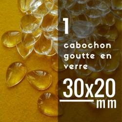 Cabochon goutte - 30 x 20 mm - A l'unité