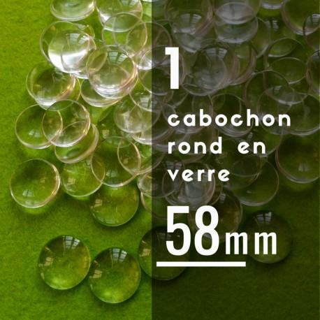 Cabochon rond - 58 x 58 mm - A l'unité