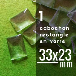 Cabochon rectangle - 33 x 23 mm - A l'unité