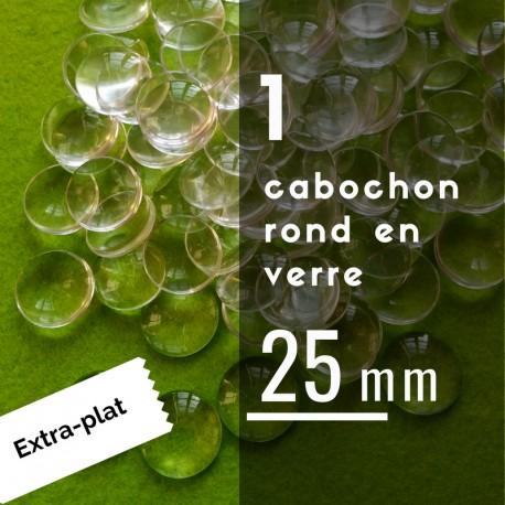 Extra plat - Cabochon rond - 25 x 25 mm - A l'unité