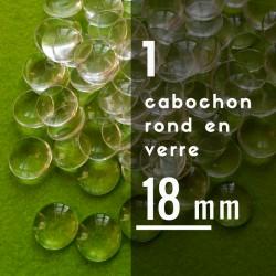 Cabochon rond - 18 x 18 mm - A l'unité
