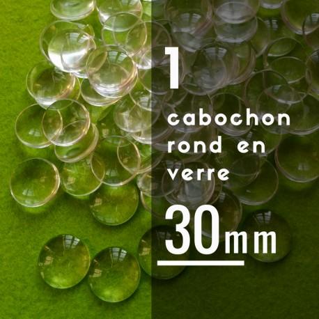 Cabochon rond - 30 x 30 mm - A l'unité