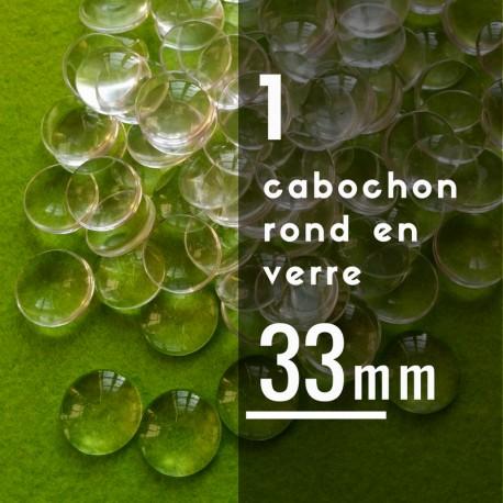 Cabochon rond - 33 x 33 mm - A l'unité