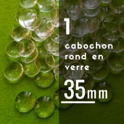 Cabochon rond - 35 x 35 mm - A l'unité