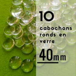 Cabochon rond - 40 x 40 mm - En lot de 10