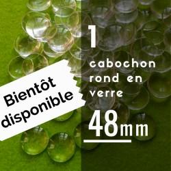 Cabochon rond - 48 x 48 mm - A l'unité