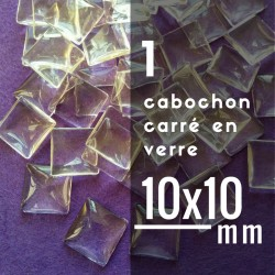 Cabochon carré - 10 x 10 mm - A l'unité