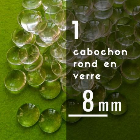 Cabochon rond - 8 x 8 mm - A l'unité