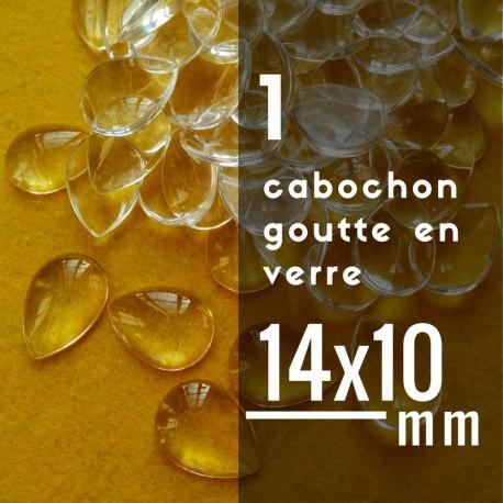 Cabochon goutte - 14 x 10 mm - A l'unité