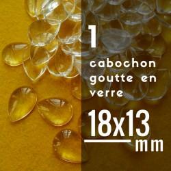 Cabochon goutte - 18 x 13 mm - A l'unité