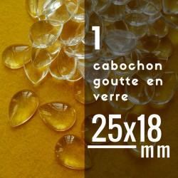 Cabochon goutte - 25 x 18 mm - A l'unité
