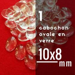 Cabochon ovale - 10 x 8 mm - A l'unité