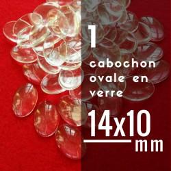 Cabochon ovale - 14 x 10 mm - A l'unité