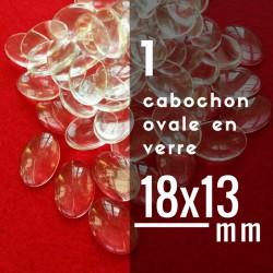 Cabochon ovale - 18 x 13 mm - A l'unité