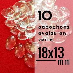 Cabochon ovale - 18 x 13 mm - En lot de 10