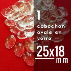 Cabochon ovale - 25 x 18 mm - A l'unité