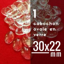 Cabochon ovale - 30 x 22 mm - A l'unité