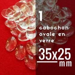 Cabochon ovale - 35 x 25 mm - A l'unité